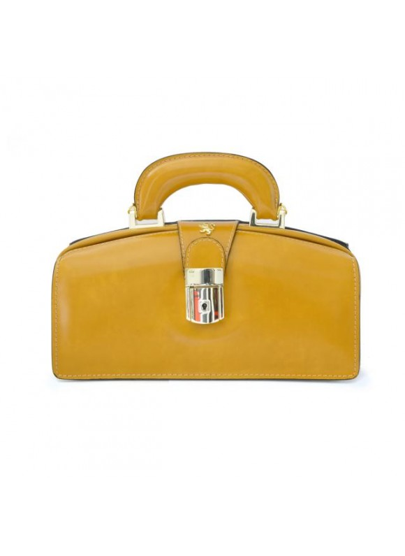 Pratesi Lady Brunelleschi Bag in cow leather - Radica Mustard
