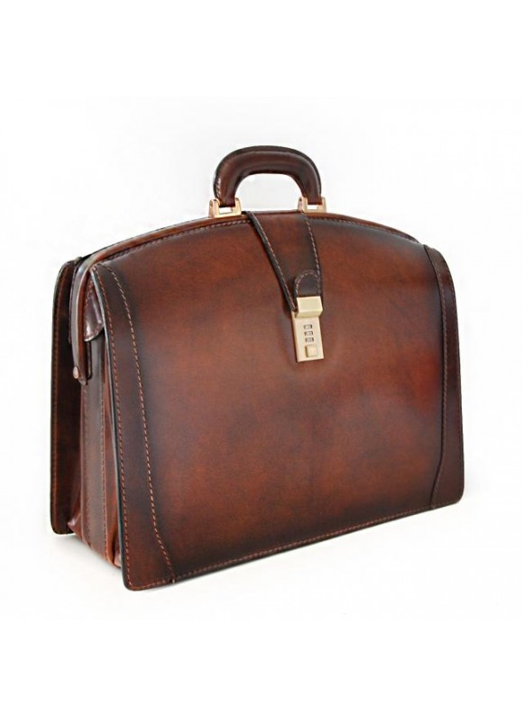 Pratesi Brunelleschi Medium Briefcase in cow leather - Bruce Brown