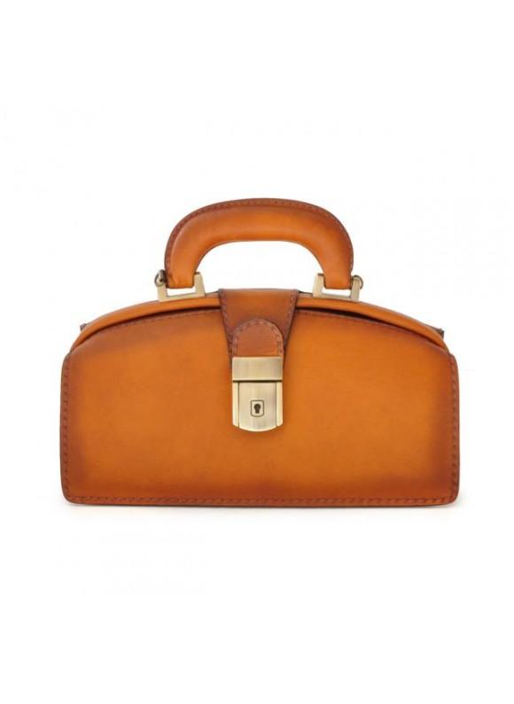 Pratesi Handbag Lady Brunelleschi Bruce in cow leather - Bruce Cognac