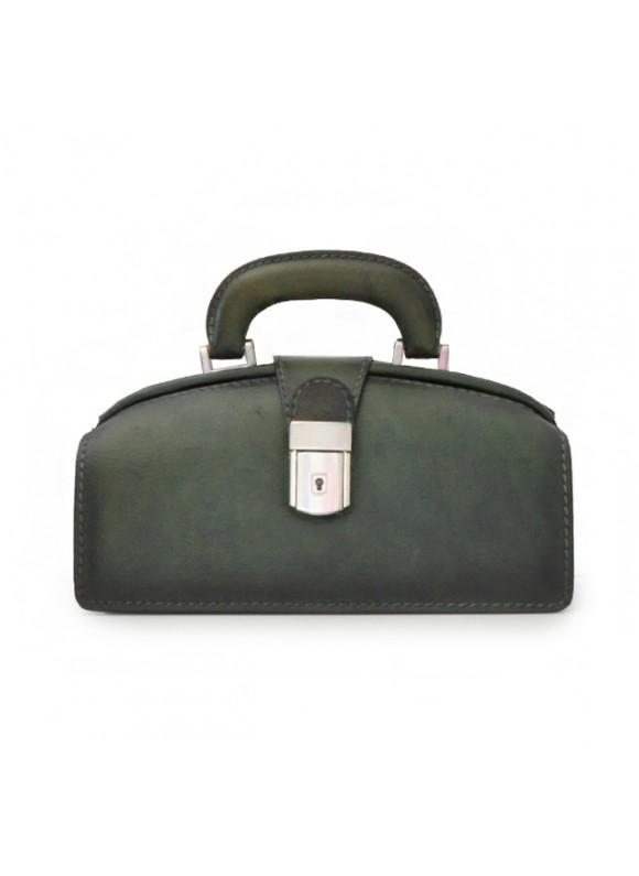 Pratesi Handbag Lady Brunelleschi Bruce in cow leather - Bruce Dark Green