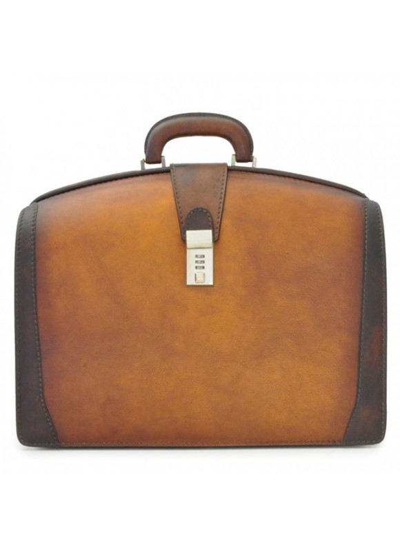 Pratesi Briefcase for Laptop Brunelleschi Bold in cow leather - Bruce Brown
