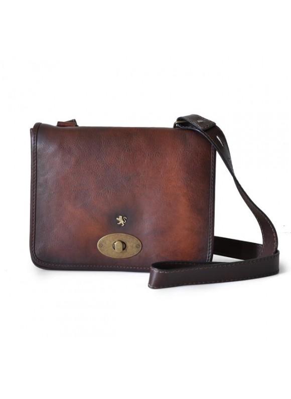 Pratesi Cross-Body Bag Portalettere Small in cow leather - Bruce Coffee