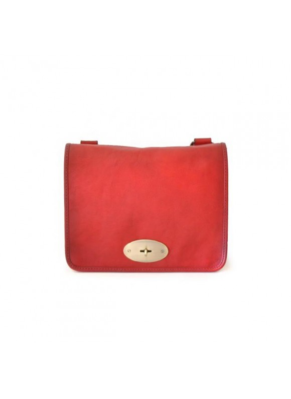 Pratesi Cross-Body Bag Portalettere Small in cow leather - Bruce Cherry
