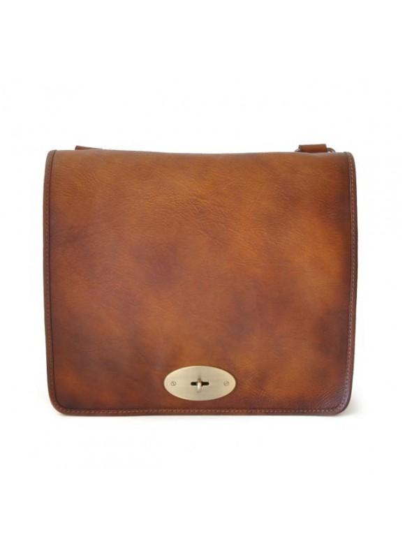 Pratesi Cross-Body Bag Portalettere in cow leather - Bruce Brown