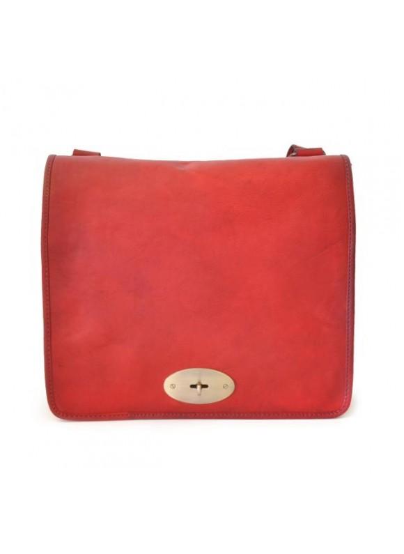 Pratesi Cross-Body Bag Portalettere in cow leather - Bruce Cherry