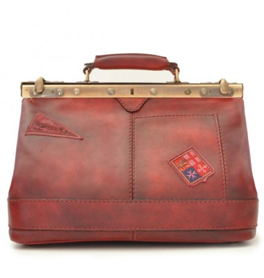 Pratesi Handbag San Casciano in cow leather - Bruce Cherry