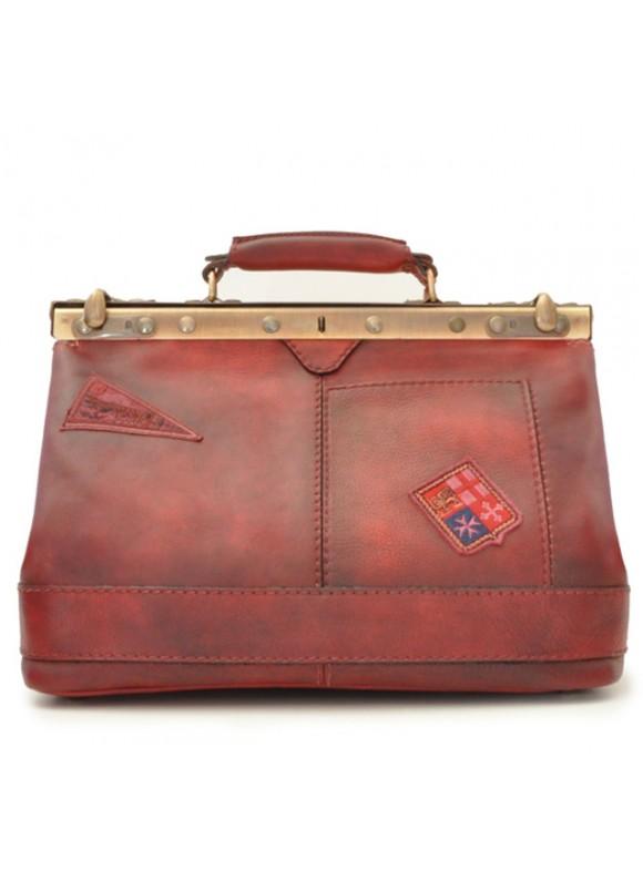 Pratesi Handbag San Casciano in cow leather - Bruce Cherry