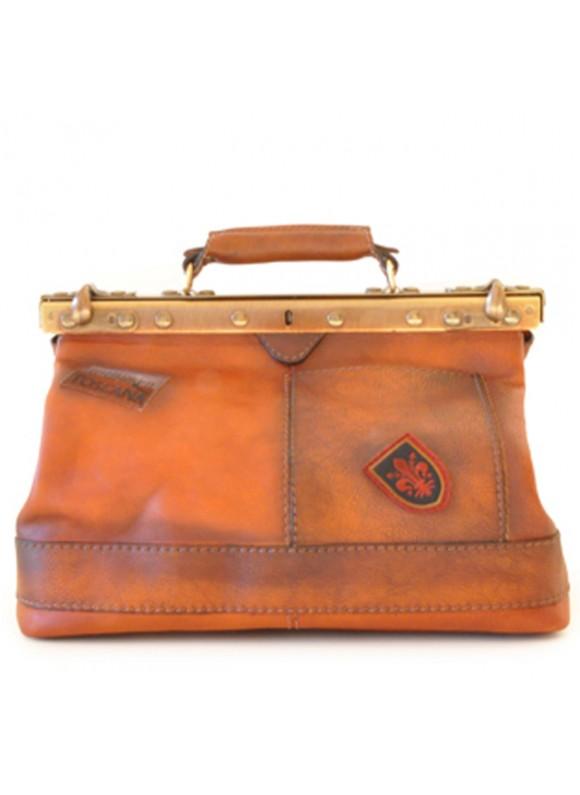 Pratesi Handbag San Casciano in cow leather - Bruce Cognac