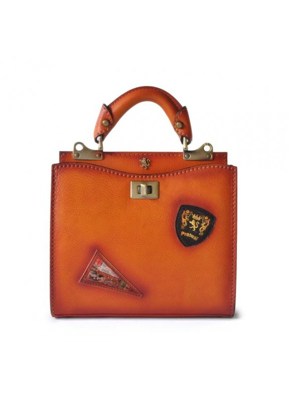 'Pratesi Lady Bag Anna Maria Luisa de'' Medici Small in cow leather - Bruce Orange'