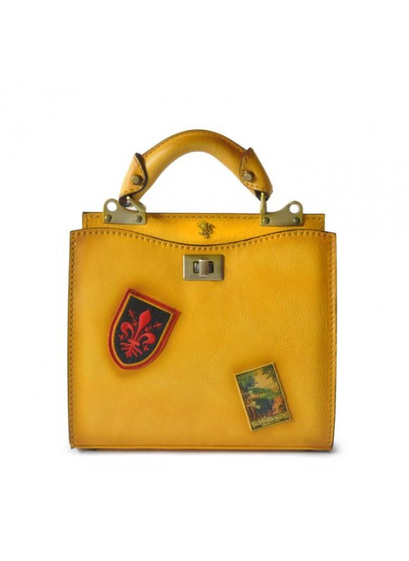 'Pratesi Lady Bag Anna Maria Luisa de'' Medici Small in cow leather - Bruce Yellow'