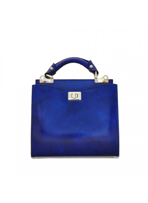 'Pratesi Anna Maria Luisa de'' Medici Small Lady Bag in cow leather - Radica Electric Blue'