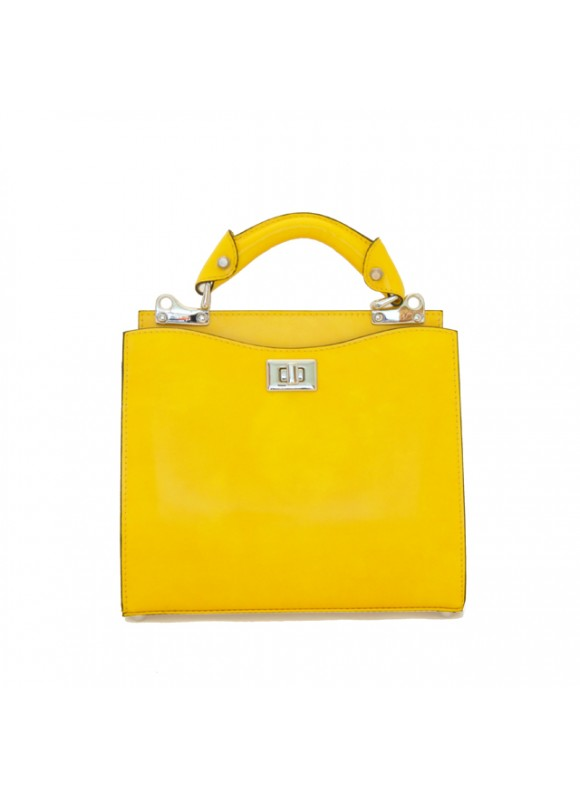 'Pratesi Anna Maria Luisa de'' Medici Small Lady Bag in cow leather - Radica Yellow'