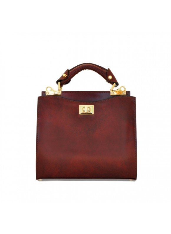 'Pratesi Anna Maria Luisa de'' Medici Small Lady Bag in cow leather - Radica Chianti'