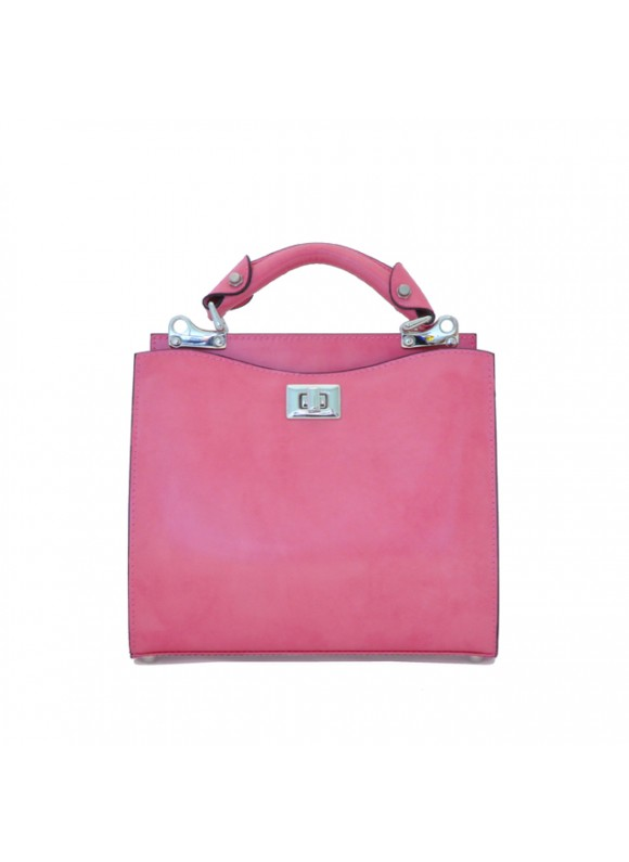 'Pratesi Anna Maria Luisa de'' Medici Small Lady Bag in cow leather - Radica Pink'
