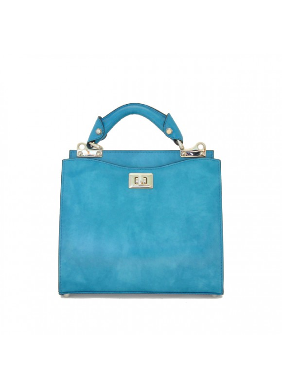'Pratesi Anna Maria Luisa de'' Medici Small Lady Bag in cow leather - Radica Sky-Blue'