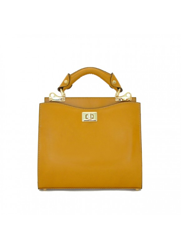 'Pratesi Anna Maria Luisa de'' Medici Small Lady Bag in cow leather - Radica Mustard'