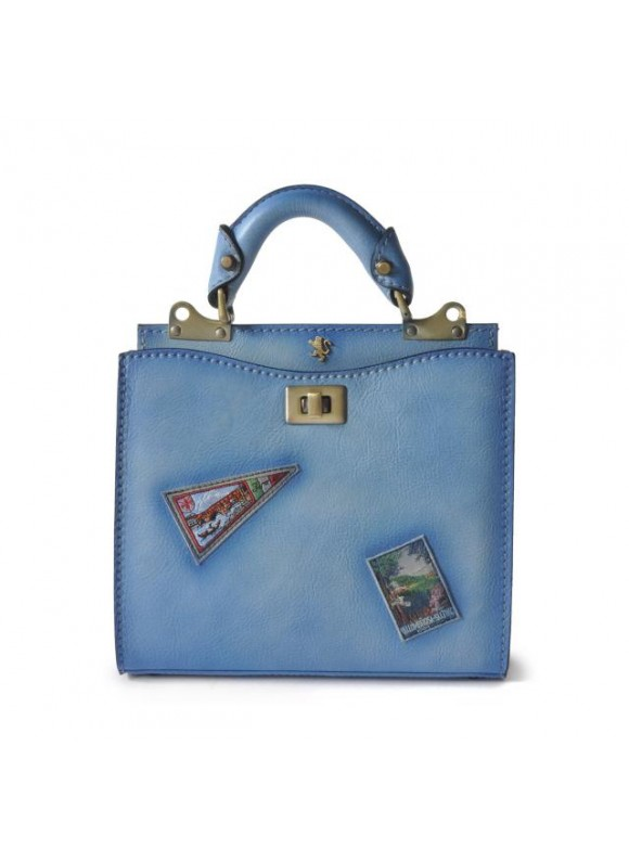 'Pratesi Lady Bag Anna Maria Luisa de'' Medici Small in cow leather - Bruce Sky-Blue'