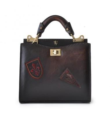 'Pratesi Lady Bag Anna Maria Luisa de'' Medici Small in cow leather - Bruce Coffee'