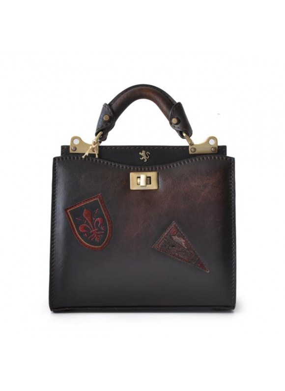'Pratesi Lady Bag Anna Maria Luisa de'' Medici Small in cow leather - Bruce Coffee'