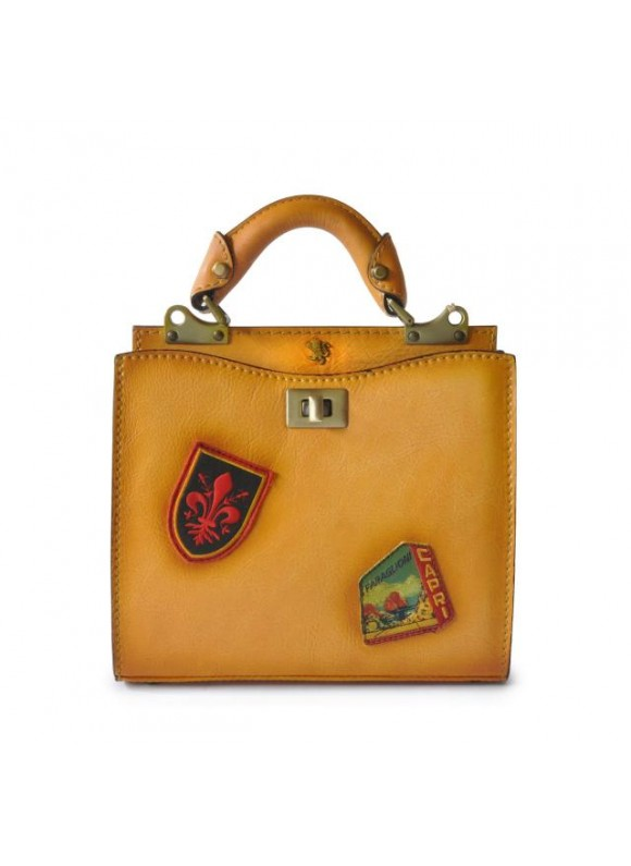 'Pratesi Lady Bag Anna Maria Luisa de'' Medici Small in cow leather - Bruce Mustard'