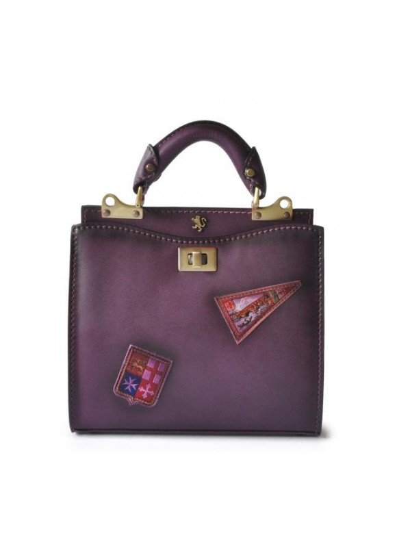 'Pratesi Lady Bag Anna Maria Luisa de'' Medici Small in cow leather - Bruce Violet'