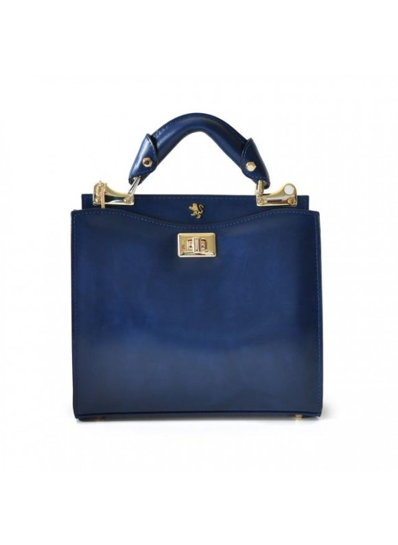 'Pratesi Anna Maria Luisa de'' Medici Small Lady Bag in cow leather - Radica Blue'