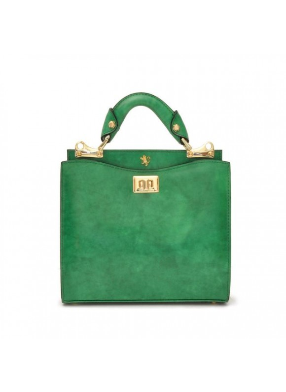 'Pratesi Anna Maria Luisa de'' Medici Small Lady Bag in cow leather - Radica Emerald'