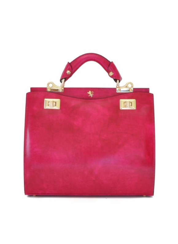 'Pratesi Anna Maria Luisa de'' Medici Medium Lady Bag in cow leather - Radica Fucsia'