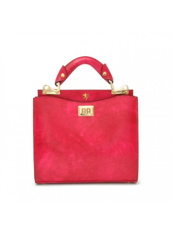 'Pratesi Anna Maria Luisa de'' Medici Small Lady Bag in cow leather - Radica Fucshia'