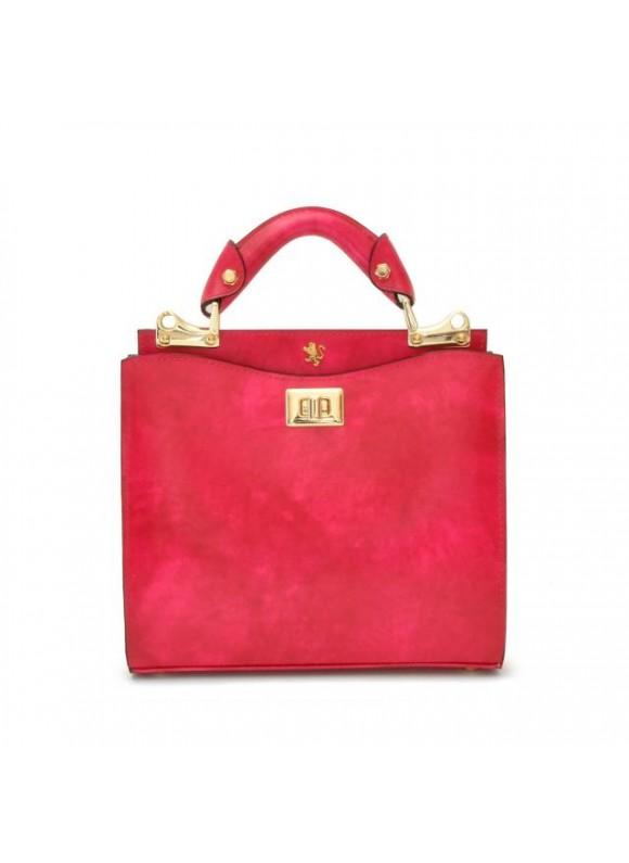 'Pratesi Anna Maria Luisa de'' Medici Small Lady Bag in cow leather - Radica Fucshia'