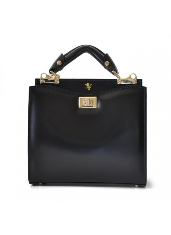 'Pratesi Anna Maria Luisa de'' Medici Small Lady Bag in cow leather - Radica Black'
