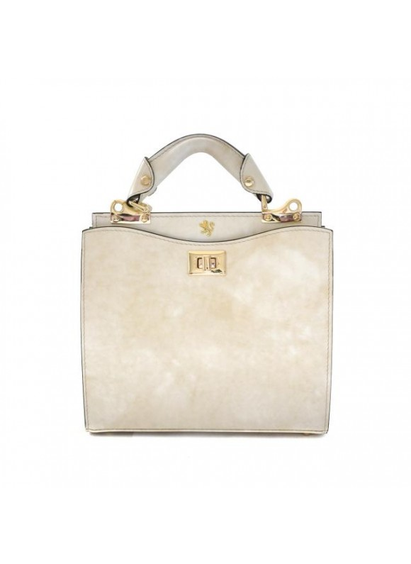 'Pratesi Anna Maria Luisa de'' Medici Small Lady Bag in cow leather - Radica Panna'