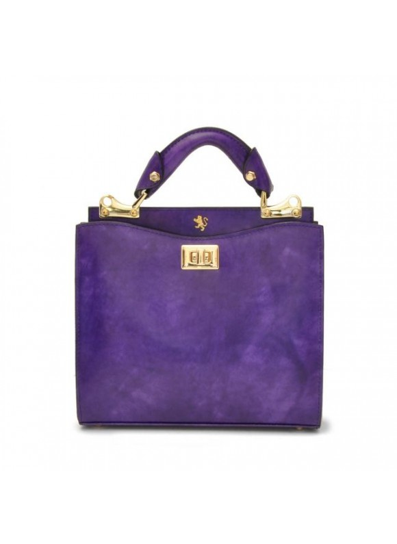 'Pratesi Anna Maria Luisa de'' Medici Small Lady Bag in cow leather - Radica Violet'