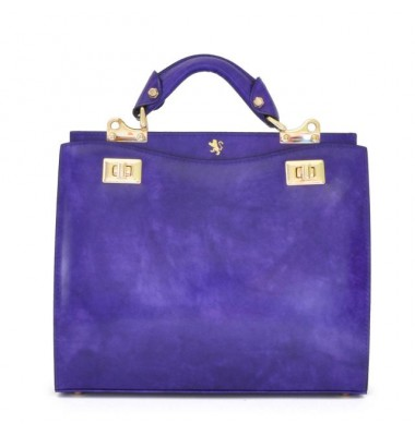 'Pratesi Anna Maria Luisa de'' Medici Medium Lady Bag in cow leather - Radica Violet'