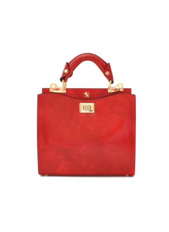 'Pratesi Anna Maria Luisa de'' Medici Small Lady Bag in cow leather - Radica Cherry'