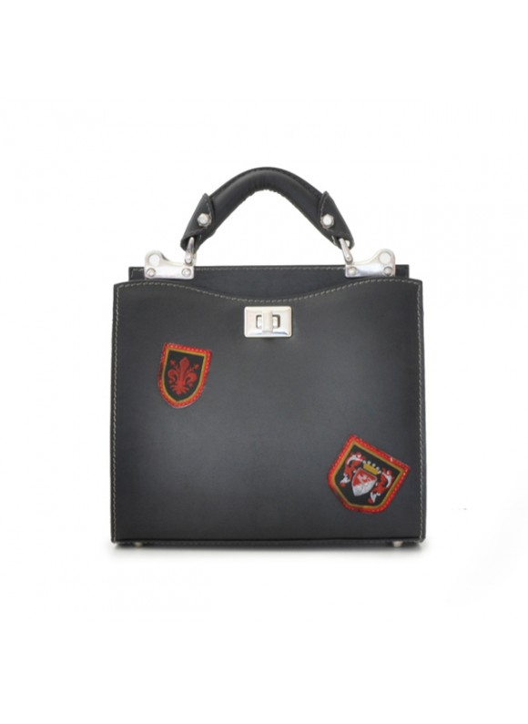 'Pratesi Lady Bag Anna Maria Luisa de'' Medici Small in cow leather - Bruce Black'