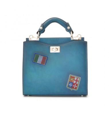 'Pratesi Lady Bag Anna Maria Luisa de'' Medici Small in cow leather - Bruce Blue'