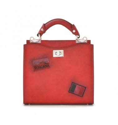 'Pratesi Lady Bag Anna Maria Luisa de'' Medici Small in cow leather - Bruce Cherry'