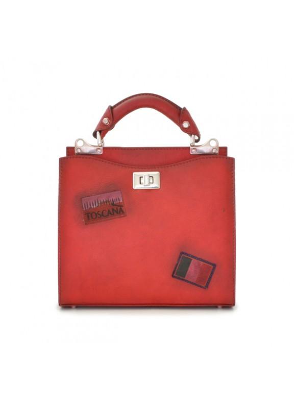 'Pratesi Lady Bag Anna Maria Luisa de'' Medici Small in cow leather - Bruce Cherry'