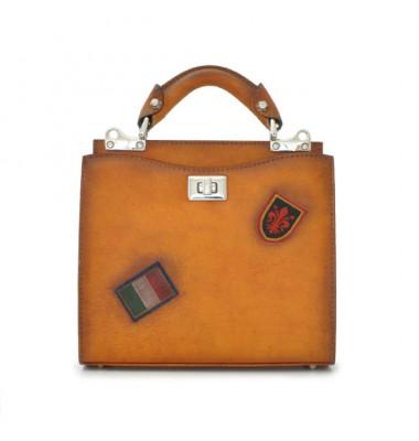 'Pratesi Lady Bag Anna Maria Luisa de'' Medici Small in cow leather - Bruce Cognac'
