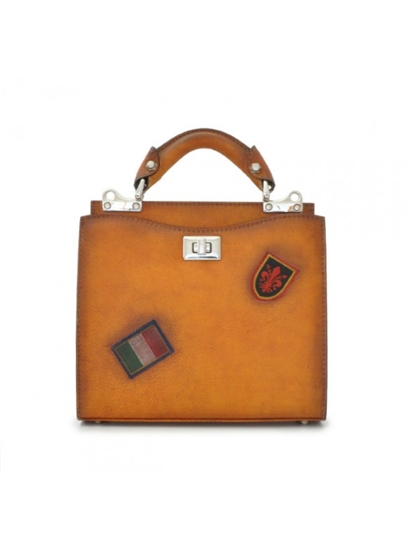 'Pratesi Lady Bag Anna Maria Luisa de'' Medici Small in cow leather - Bruce Cognac'