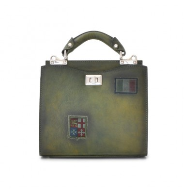 'Pratesi Lady Bag Anna Maria Luisa de'' Medici Small in cow leather - Bruce Dark Green'