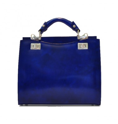 'Pratesi Anna Maria Luisa de'' Medici Medium Lady Bag in cow leather - Radica Electric Blue'