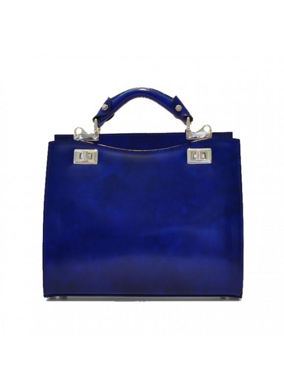 'Pratesi Anna Maria Luisa de'' Medici Medium Lady Bag in cow leather - Radica Electric Blue'