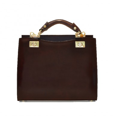 'Pratesi Anna Maria Luisa de'' Medici Medium Lady Bag in cow leather - Radica Coffee'