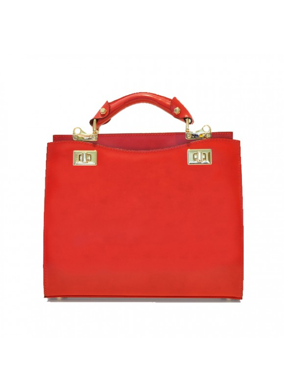 'Pratesi Anna Maria Luisa de'' Medici Medium Lady Bag in cow leather - Radica Cherry'