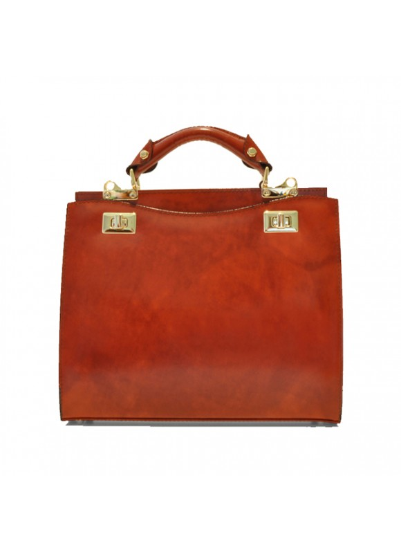 'Pratesi Anna Maria Luisa de'' Medici Medium Lady Bag in cow leather - Radica Brown'