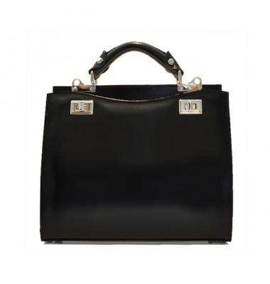 'Pratesi Anna Maria Luisa de'' Medici Medium Lady Bag in cow leather - Radica Black'
