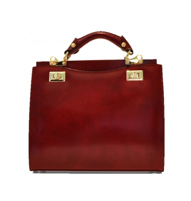 'Pratesi Anna Maria Luisa de'' Medici Medium Lady Bag in cow leather - Radica Chianti'
