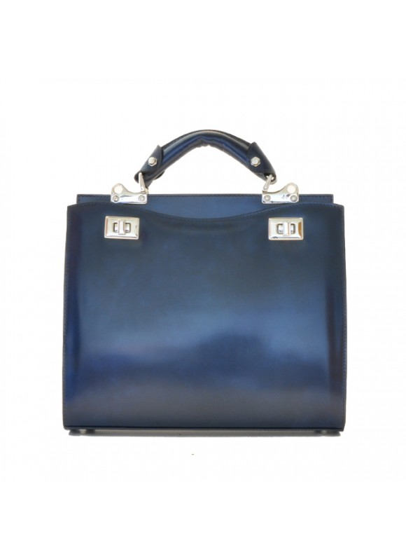 'Pratesi Anna Maria Luisa de'' Medici Medium Lady Bag in cow leather - Radica Blue'